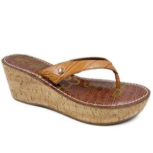 Sam Edelman Romy Wedge Flip Flop Thong Sandals